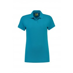 POLOSHIRT L&S BASIC FOR HER 3502 TURQUOISE