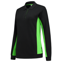 POLOSWEATER TRICORP 302002 ZWART AFZ LIME