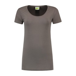 T-SHIRT L&S 1268 pearl grey CREWNECK COT/ELAST SS FOR HER VARIETY